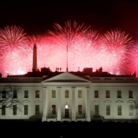 Fireworks are seen above the White House after the inauguration of President Joe Biden. | REUTERS