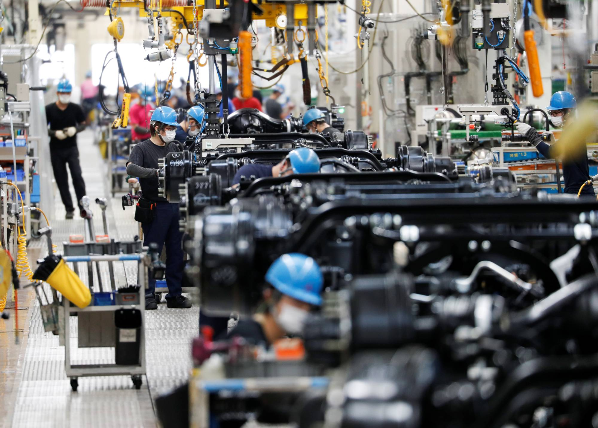 The spread of the novel coronavirus has affected Japan's auto production industry, dependent on parts imported from China, illustrating the vulnerability of supply chains. | REUTERS