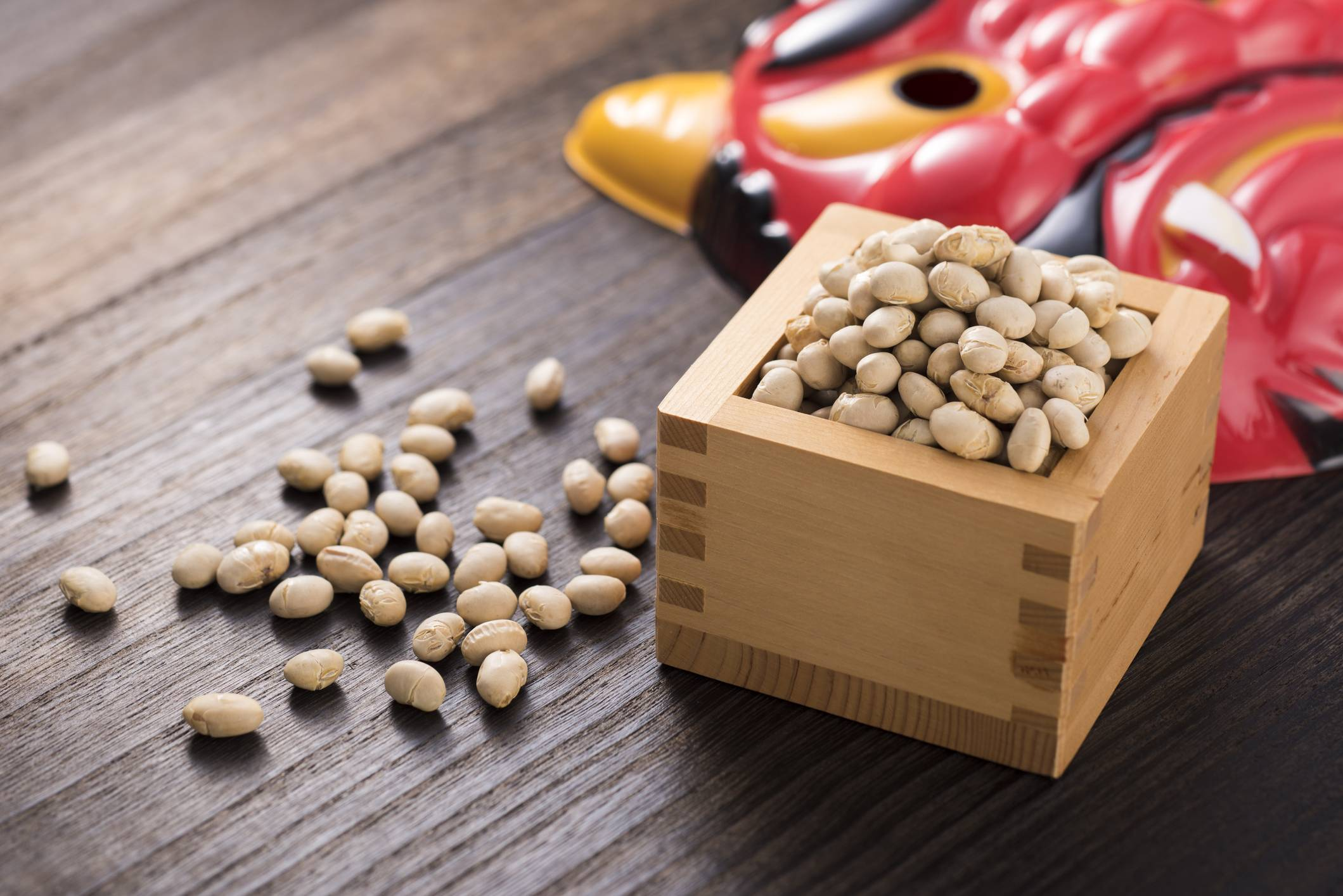 Get out: Beans are used to throw at people dressed as ogres on the holiday of Setsubun, which is on Feb. 2 this year. | GETTY IMAGES