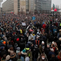 Mass rallies sweep Russia in protests over Alexei Navalny's arrest