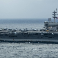 The USS Theodore Roosevelt aircraft carrier in the Pacific Ocean on Jan. 15 | U.S. NAVY