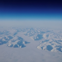 Glacial ice is seen from a NASA flight supporting the Oceans Melting Greenland research mission above the east coast of Greenland in 2018. | REUTERS