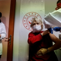 Sinovac's vaccine is administered at a nursing home in Ankara on Jan. 19.  | REUTERS