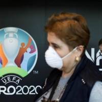 European soccer's governing body UEFA has not yet decided whether it will require vaccinations for the upcoming Euro 2020 tournament or reduce the number of host cities. | REUTERS