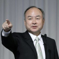 Masayoshi Son is stepping down as chairman of the mobile unit at his SoftBank Group. | BLOOMBERG