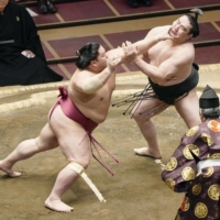 Sumo has experienced an explosion in popularity among foreign fans over the past few years. | KYODO