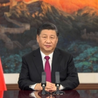 Chinese President Xi Jinping. This year is an important one for Xi, as it marks the centenary of the ruling Chinese Communist Party's founding. | WORLD ECONOMIC FORUM / VIA AFP-JIJI