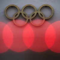 The Olympic rings are pictured in front of the International Olympic Committee  headquarters in Lausanne, Switzerland, on January 26. | REUTERS