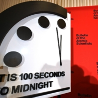 'Doomsday Clock' stuck at 100 seconds to midnight