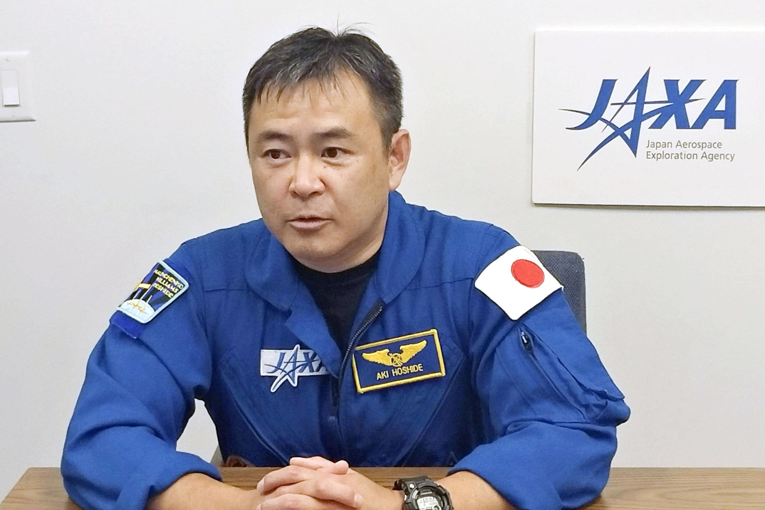 NASA is targeting April 20 at the earliest for another launch of a SpaceX ship that will carry Japan's Akihiko Hoshide and three other astronauts to the International Space Station. | JAXA / VIA KYODO