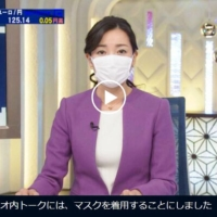 Use of masks by Japanese news anchors sparks debate among public and industry