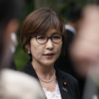 Former Defense Minister Tomomi Inada says only a crisis will make room for a woman in the Liberal Democratic Party's top job.  | BLOOMBERG