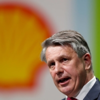 Ben van Beurden, chief executive officer of Royal Dutch Shell, speaks during the 26th World Gas Conference in Paris in 2015. | REUTERS