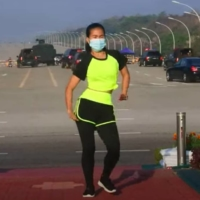 Myanmar aerobics instructor dances through military coup