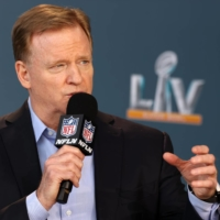 NFL Commissioner Roger Goodell speaks during a news conference on Thrusday.  | USA TODAY / VIA REUTERS