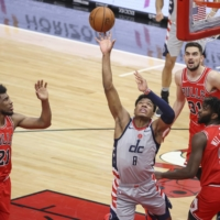 Birthday boy Hachimura gets double-double as Beal leads Wizards past Bulls
