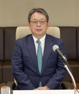 Japan Tobacco Inc. President and CEO Masamichi Terabatake speaks during an online news conference Tuesday. | KYODO