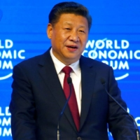 Chinese President Xi Jinping attends the World Economic Forum annual meeting in Davos, Switzerland, in 2017.  | REUTERS