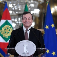 A giant of Europe prepares to head Italy's new unity government