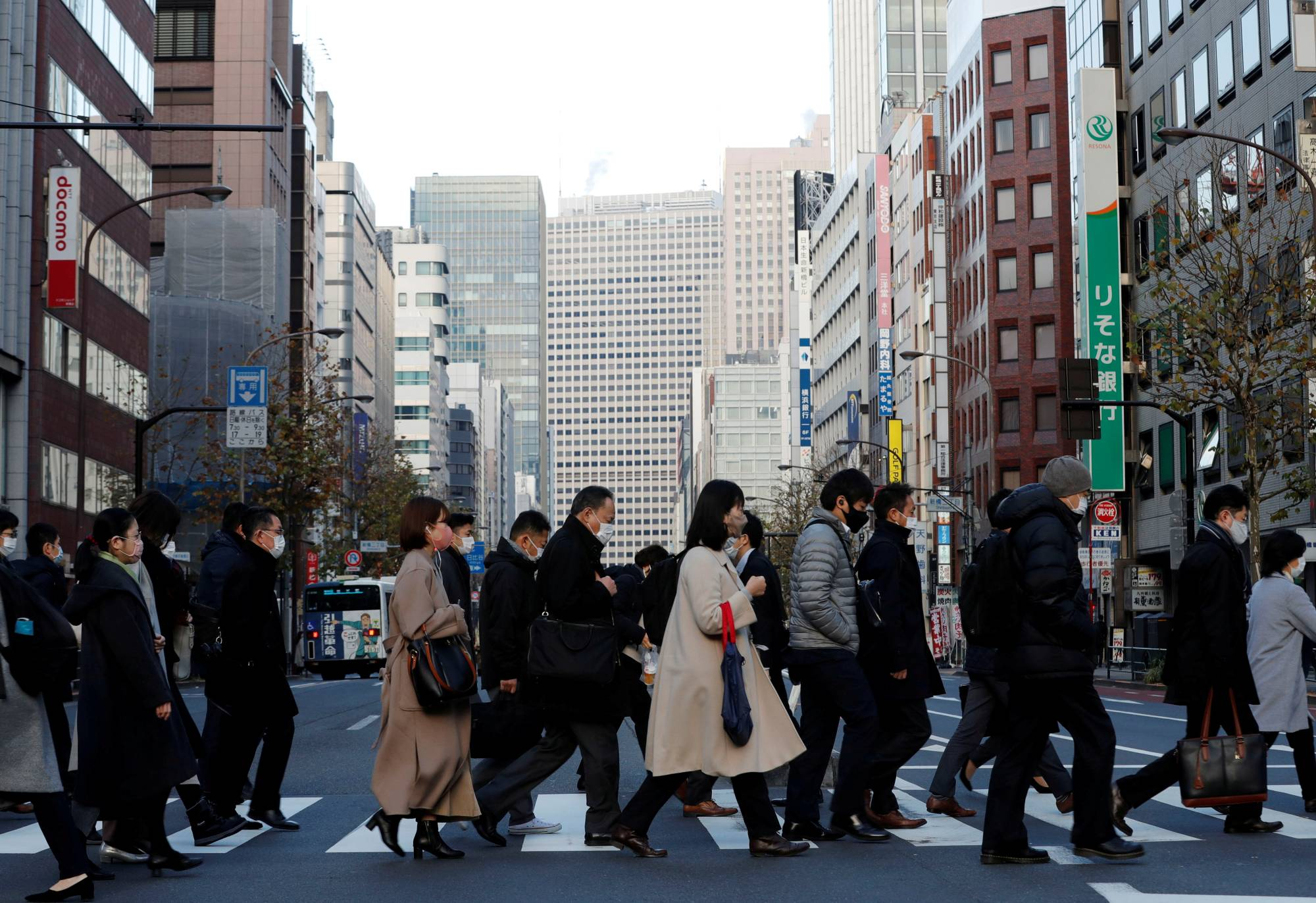Tokyo confirmed 350 new cases of COVID-19 on Tuesday. | REUTERS