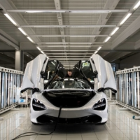 A McLaren 720S is assembled on the factory floor of the McLaren Automotive Production Centre in Woking, England. |  REUTERS