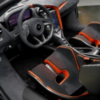 The interior of the McLaren 765LT, at its launch at the McLaren headquarters in Woking, England | REUTERS