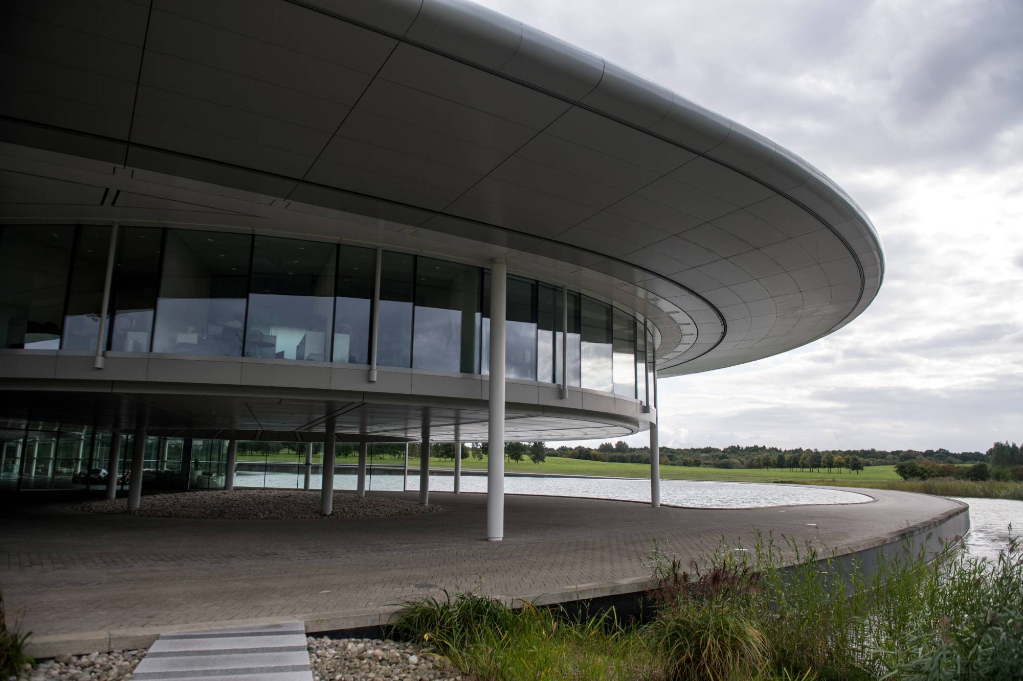 Part of the The McLaren Technology Centre in Woking, England | REUTERS