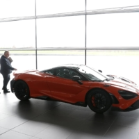 Visitors at the launch of the McLaren 765LT | REUTERS