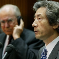 Japan's then-Prime Minister Junichiro Koizumi, seen with Australia's then-Prime Minister John Howard in 2002, is credited with bolstering ties with Australia in the 2000s. | REUTERS