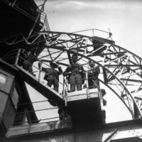 Crown Prince Hirohito visits the Eiffel Tower in Paris in 1921. | PUBLIC DOMAIN