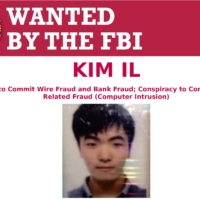 Kim Il, one of three North Koreans charged over a massive hacking spree, on an FBI notice | FBI / VIA REUTERS