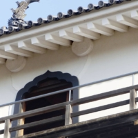 Cracks have been found at Shiroishi Castle in Miyagi Prefecture after a powerful quake hit the Tohoku region on Saturday. | SHIROISHI CASTLE MANAGEMENT OFFICE / VIA KYODO
