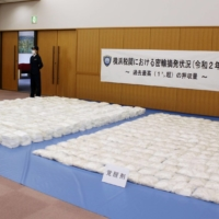 The amount of illegal drugs seized by Japanese customs in 2020 dropped 43% from the previous year. | KYODO
