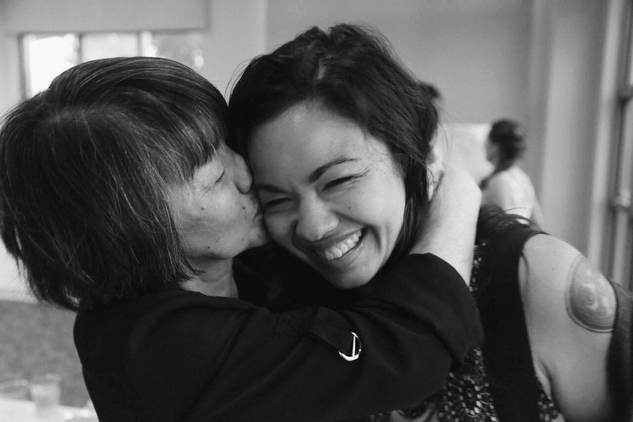 Stronger bonds: Elizabeth Miki Brina wrote her memoir, 'Speak, Okinawa,' in part to repair her strained relationship with her mother after growing up isolated from her Japanese roots.  |