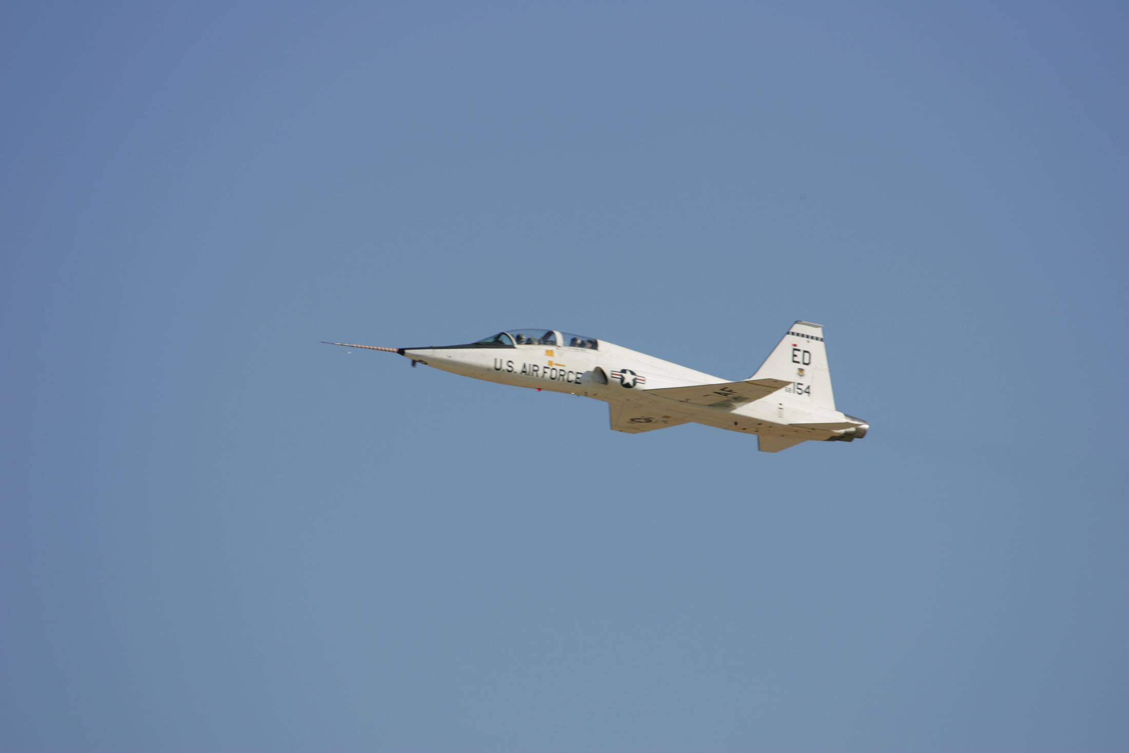 A NASA T-38 Trainer aircraft takes off from Edwards Air Force Base in California in 2005. | REUTERS