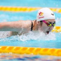 Rikako Ikee finishes third in post-treatment butterfly return