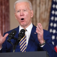 U.S. President Joe Biden speaks about foreign policy at the State Department in Washington on Feb. 4. | AFP-JIJI