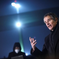 International Atomic Energy Agency chief Rafael Grossi addresses the media on Sunday upon his arrival from Tehran, at Vienna International Airport in Schwechat, Austria.  | REUTERS