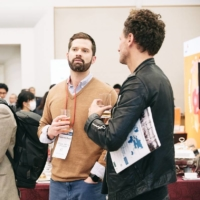 Attendees network and exchange ideas at Sustainable Brands 2020 Yokohama.