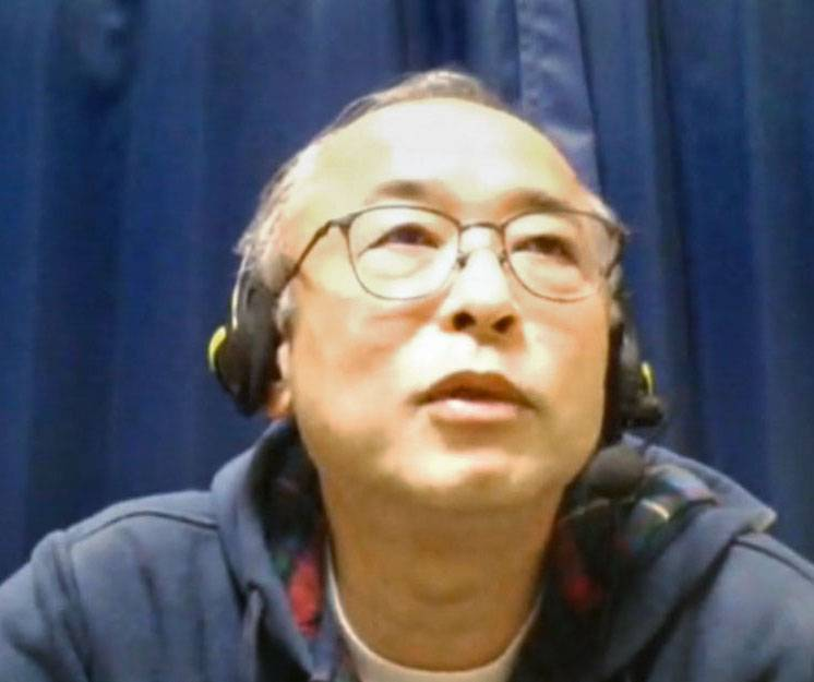 Ken Maeda, an expert from the World Health Organization who visited Wuhan earlier this month, is interviewed online last week. | KYODO