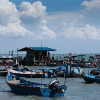 A fishing village in front of Penang Bridge near Bayan Lepas, Penang, Malaysia  | BLOOMBERG