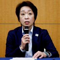 Tokyo 2020 President Seiko Hashimoto speaks during a news conference on Thursday. | POOL / VIA REUTERS