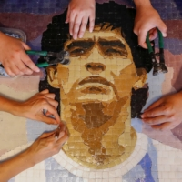 Group channels grief into art as way to honor Diego Maradona