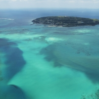 Kouri Island is famous for its breathtakingly beautiful emerald green waters and a coralline rock formation in the shape of a heart.