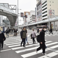 A street outside Nagoya Railroad Co.'s Gifu Station on Friday. Gifu Gov. Hajime Furuta has taken a cautious stance over the lifting of the state of emergency.  | KYODO