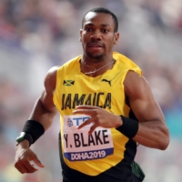 Jamaica's Yohan Blake runs during the 200-meter heats at the World Athletics Championships in Doha on Sept. 29, 2019. | REUTERS