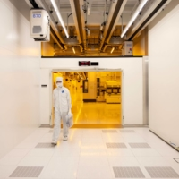 An employee exits the clean room at the Globalfoundries semiconductor fabrication plant in Dresden, Germany, on Feb. 11. The idea of 'techno-democracies' challenging 'techno-autocracies' appeared in a Foreign Affairs magazine report late last year. | BLOOMBERG