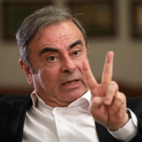 Former Nissan chairman Carlos Ghosn speaks during an interview in Beirut on Jan. 14, 2020.  | REUTERS