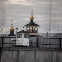 An Orthodox church on the grounds of Penal Colony No. 2, where Kremlin critic Alexei Navalny has been transferred, in the town of Pokrov, Russia | AFP-JIJI
