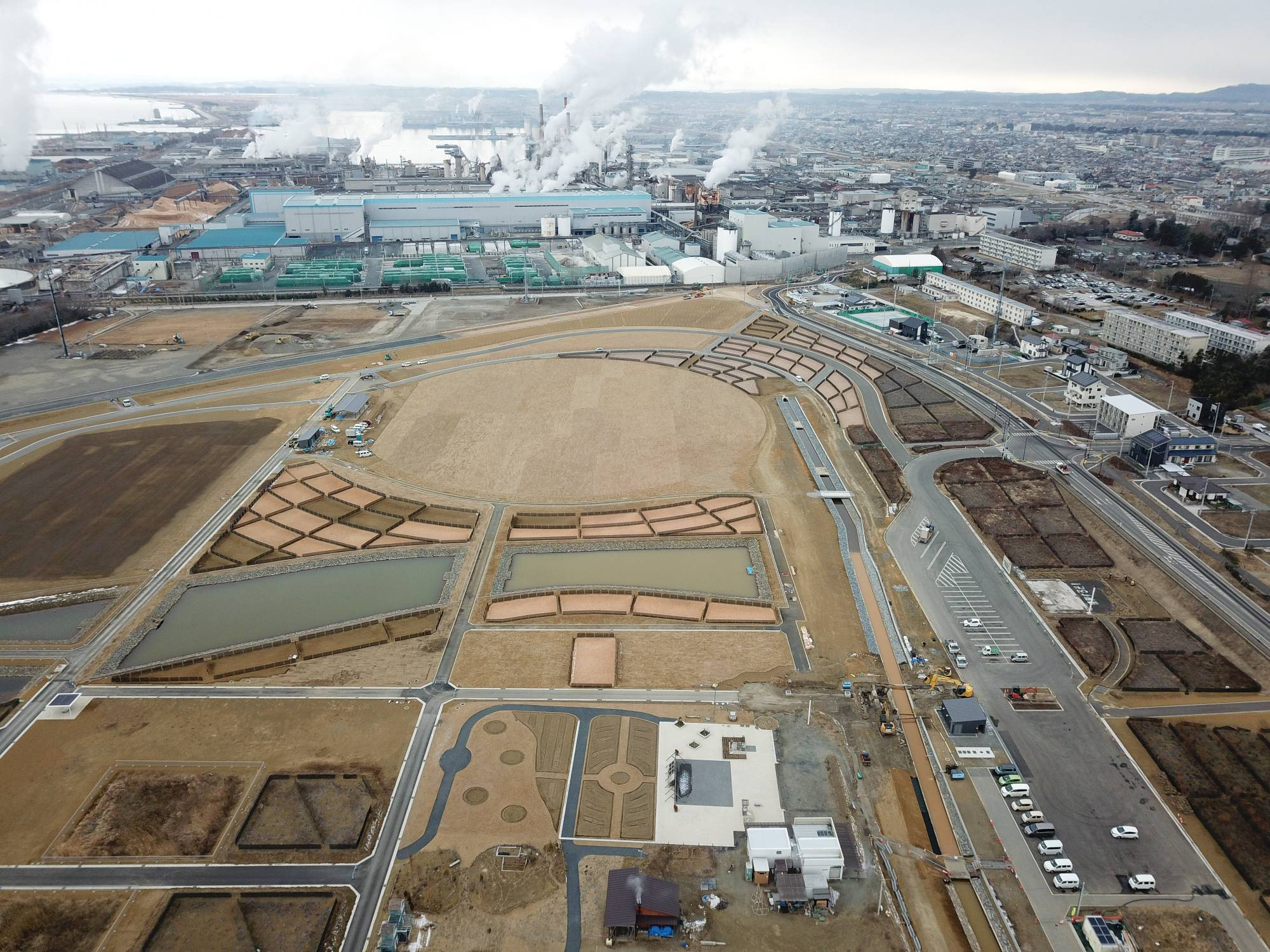 The Tsunami Recovery Memorial Park in Minamihama, Miyagi Prefecture, is set to open in late March. | OSCAR BOYD